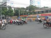 Saigon Motorbikes - a Busy Intersection