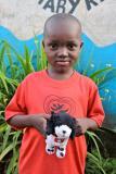 Smiling at an orphanage in Kampala, Uganda