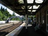 Shade at a train station, Scotland