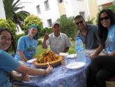 Sharing a meal in Morocco