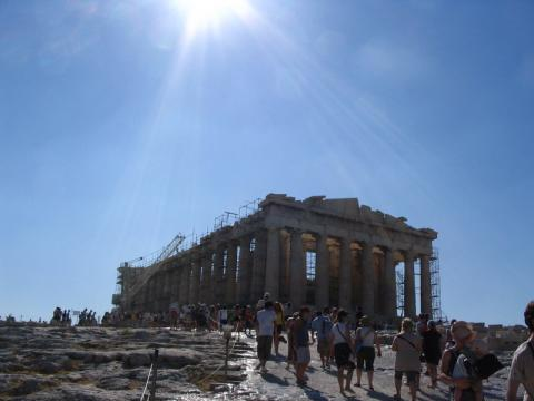 The Parthenon on the Acropolis, Athens, Greece