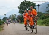 Commuting in Viang-Vieng, Laos