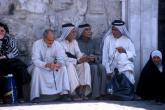 Palestinian men chatting, Ummayyad Mosque, Syria