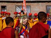 Tibetan Monks Celebrating Losar in Nepal