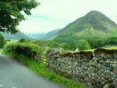 Country road in the Western Lake District near Crummock Water