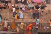 Morning activities on the Ganges